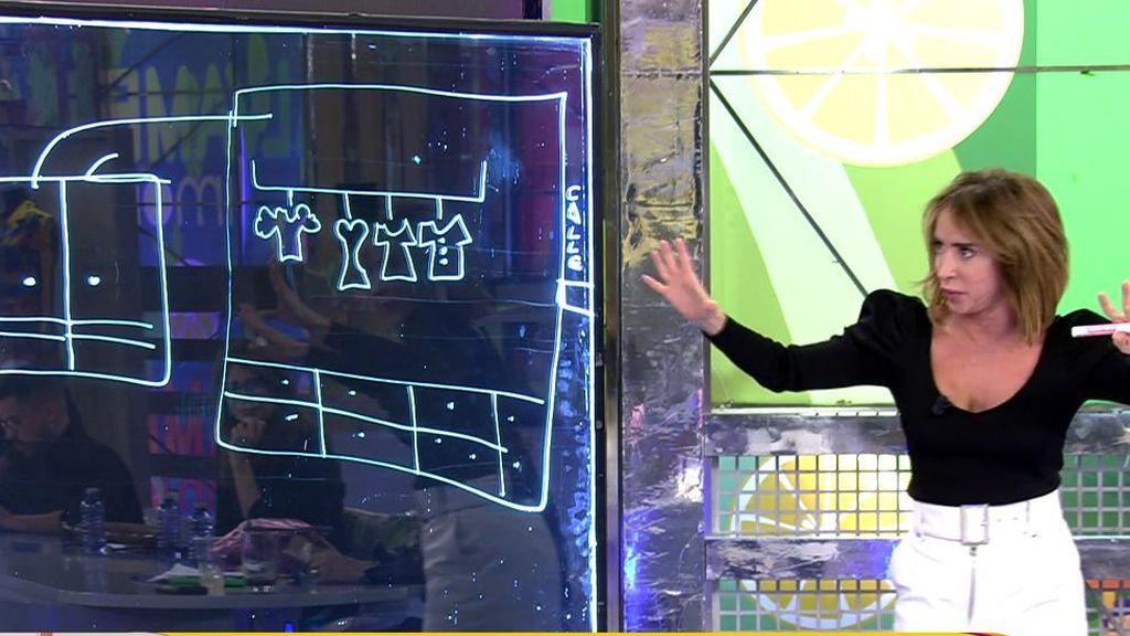 ¡María Patiño le desvela a Kiko Rivera con un dibujo dónde están de verdad los objetos de valor de Paquirri!