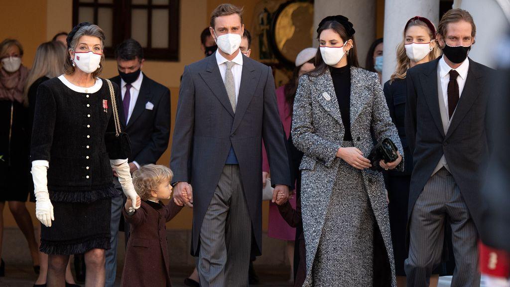 Carolina de Mónaco con sus hijos en el Día Nacional de Mónaco