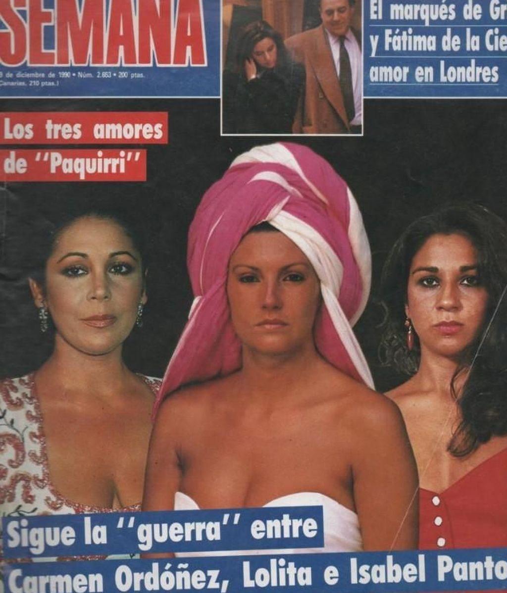 Isabel Pantoja, Carmina Ordóñez y Lolita, en las revistas