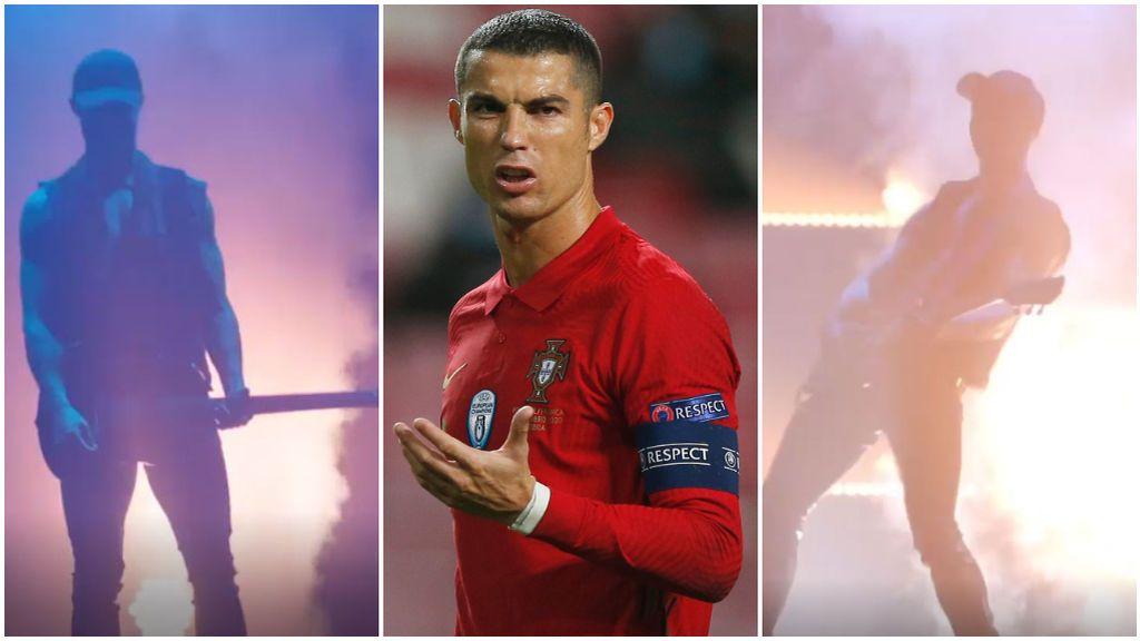 Cristiano Ronaldo se pasa al rock por un día.