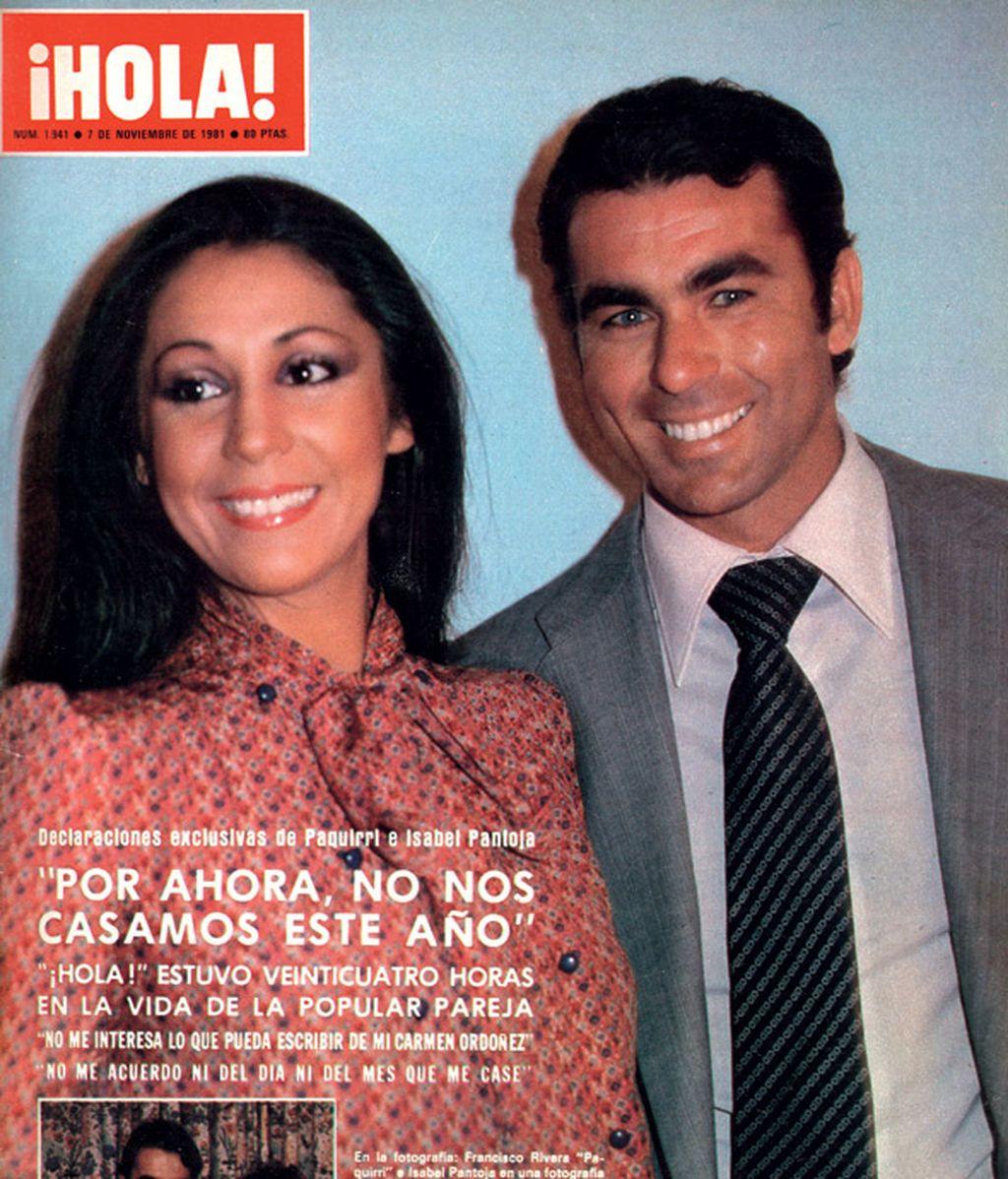 Isabel Pantoja y Paquirri, portada de revista en noviembre de 1981