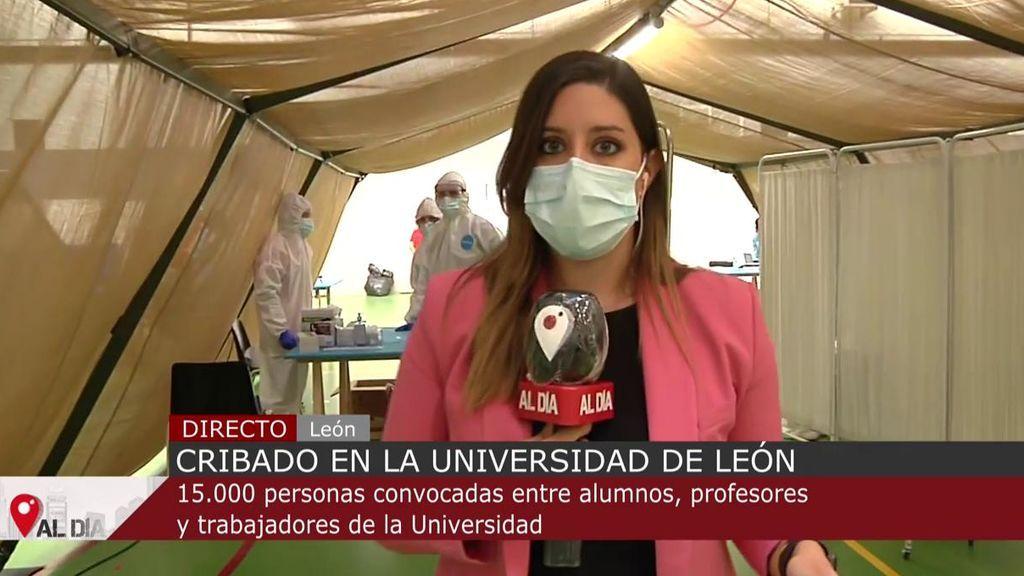Un total de 15.000 personas de la Universidad de León acuden al cribado masivo de test de antígenos