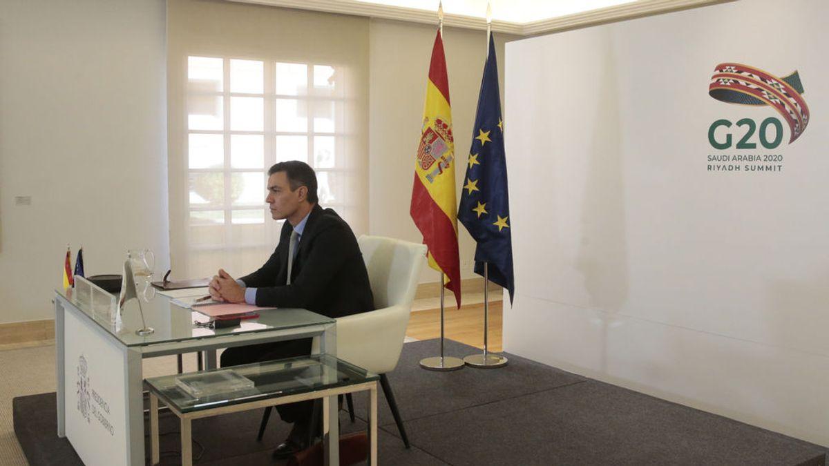Sánchez defiende este domingo ante el G20 el Plan de Recuperación Económica para España
