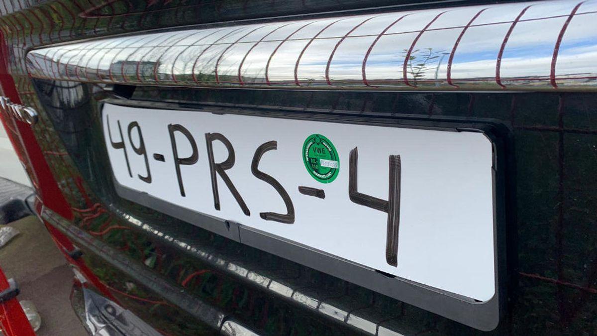 Interceptan en Lugo un coche con los números de la matrícula pintados con rotulador permanente