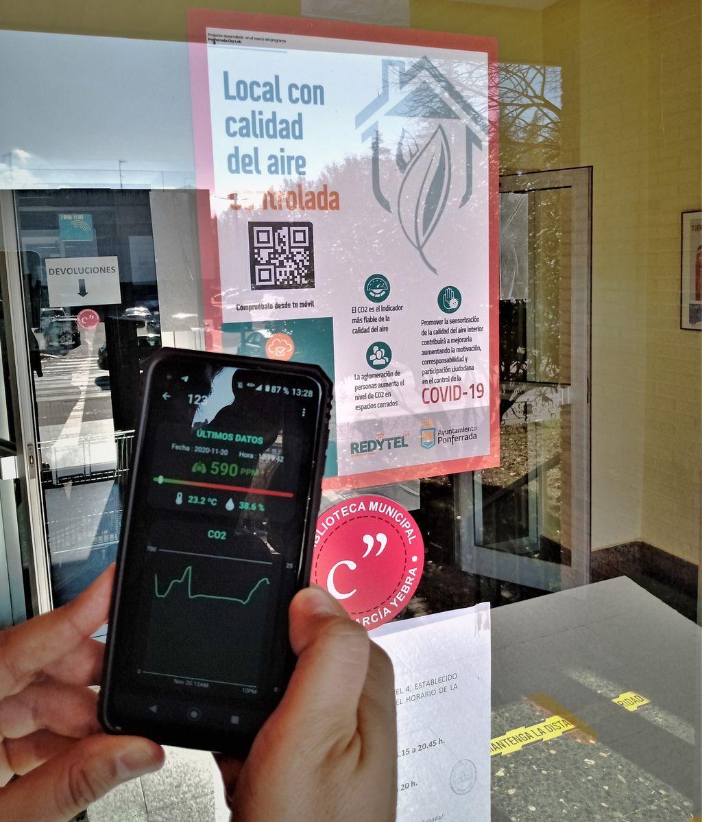 La aplicación permite ver la calidad del aire antes de entrar a un establecimiento.