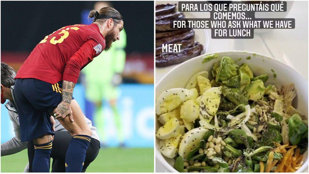 """Sergio Ramos se machaca para volver poniendo su atención en la dieta: """"Para los que me preguntáis qué comemos"""""""