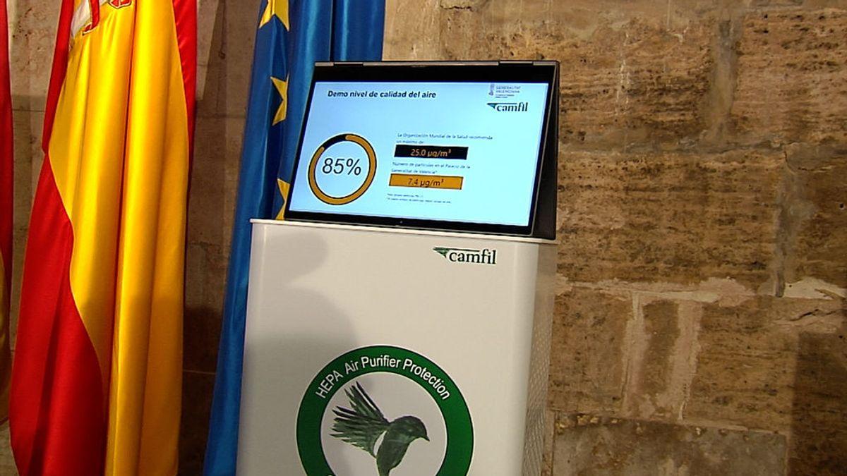 La Generalitat Valenciana distribuirá 8.000 dispositivos para filtrar el aire del interior de las aulas