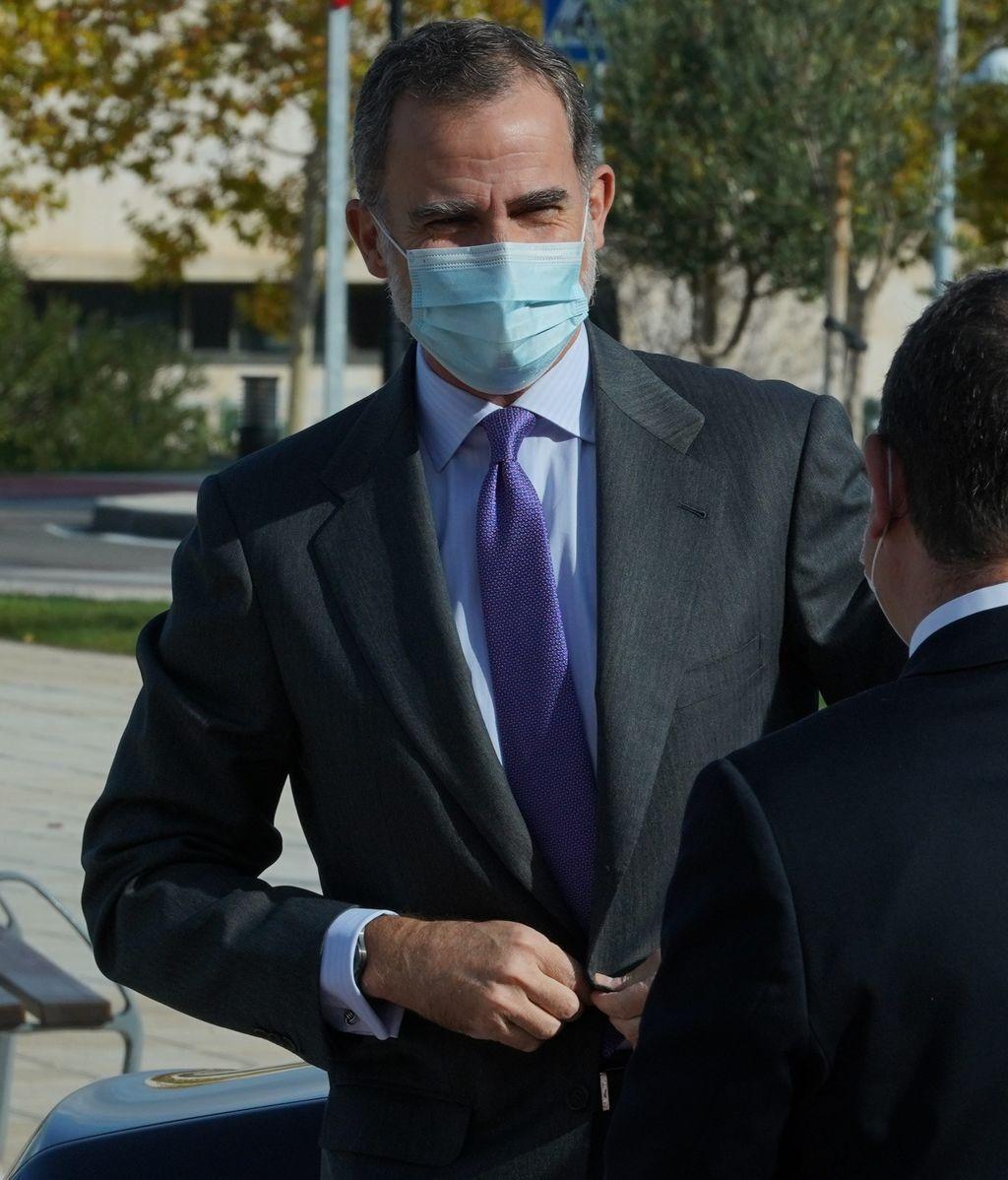 El rey Felipe, el pasado lunes en la inauguración del hospital universitario de Toledo