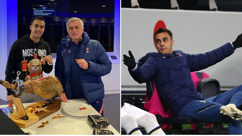 La extraña apuesta de Mourinho y Reguilón: el técnico portugués ha tenido que comprar un jamón de 500 euros