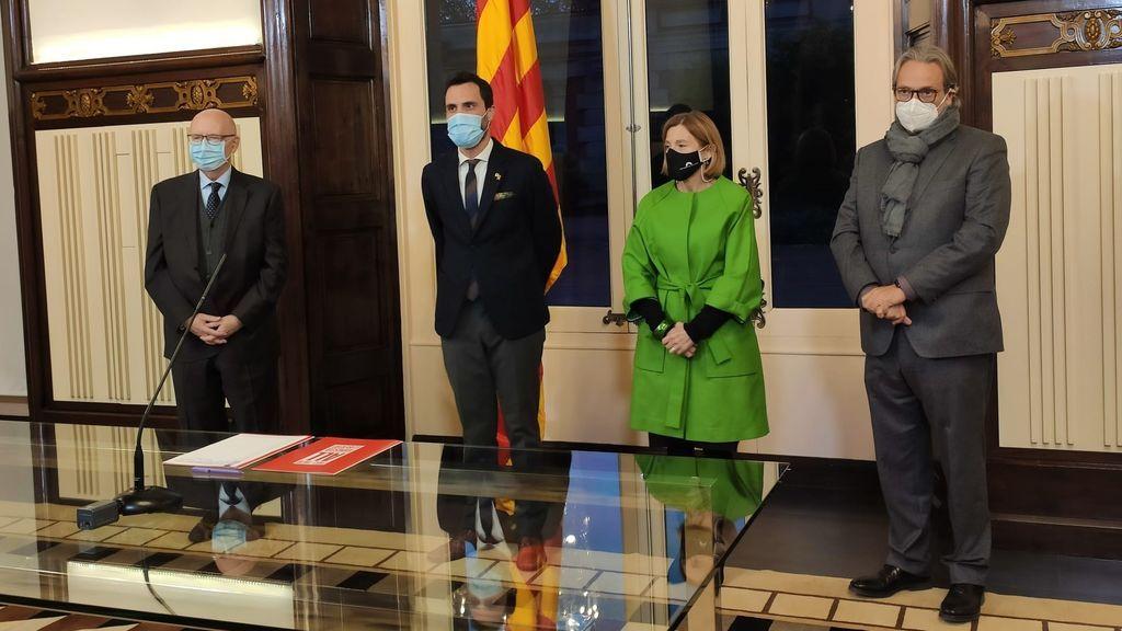 Forcadell, Torrent y dos expresidents del Parlament impulsan la creación de una ley de amnistía