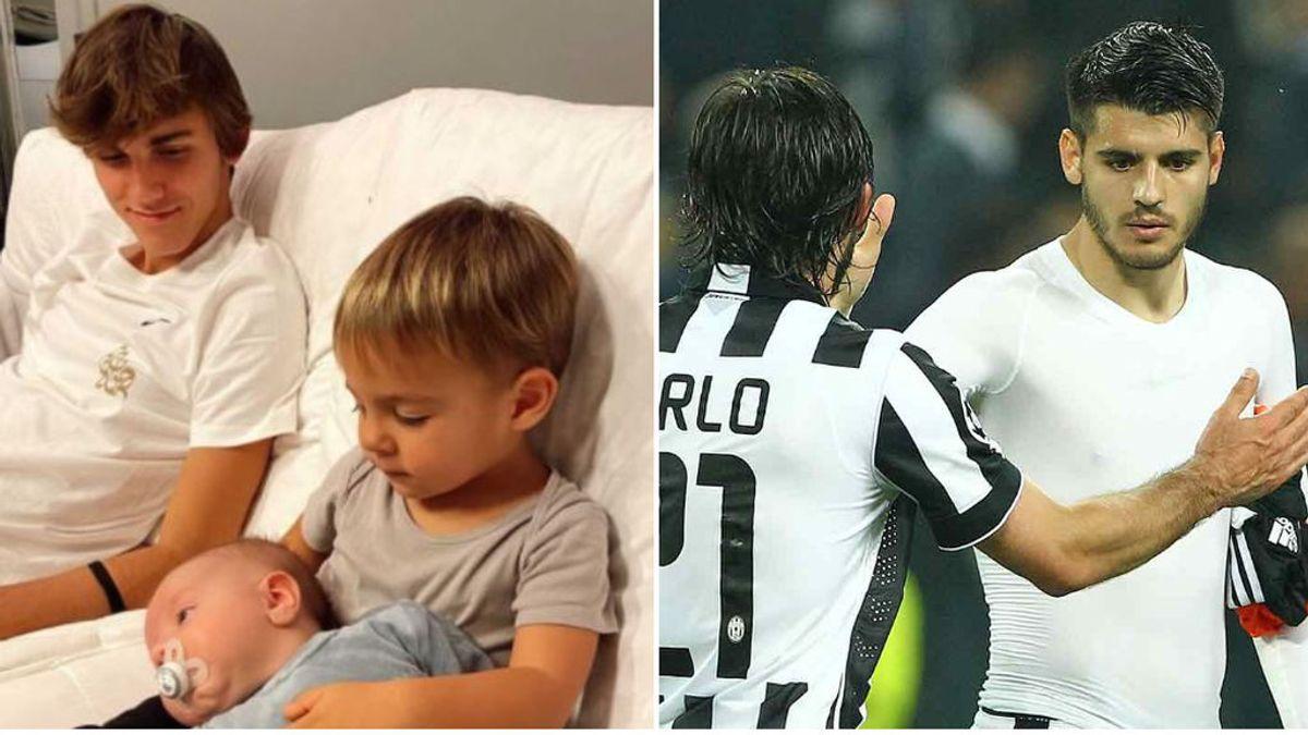 """El hijo de Pirlo presume de amistad con los niños de Morata y Alice Campello: """"Tío Nick"""""""