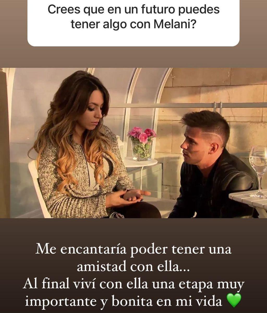 Álex Bueno habla de Melani en Instagram