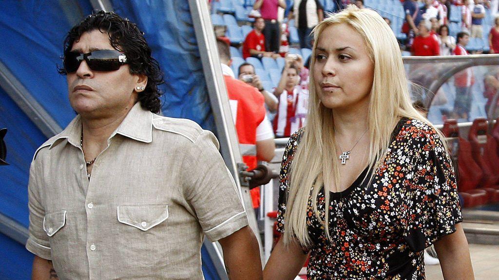 Maradona, con su mujer Verónica Ojeda
