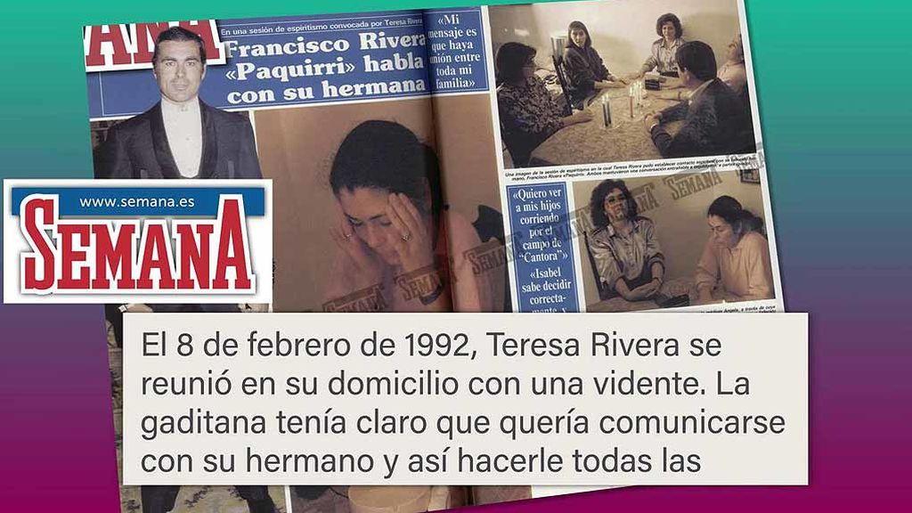Así fue la sesión de espiritismo en la que Teresa Rivera quiso hablar con Paquirri