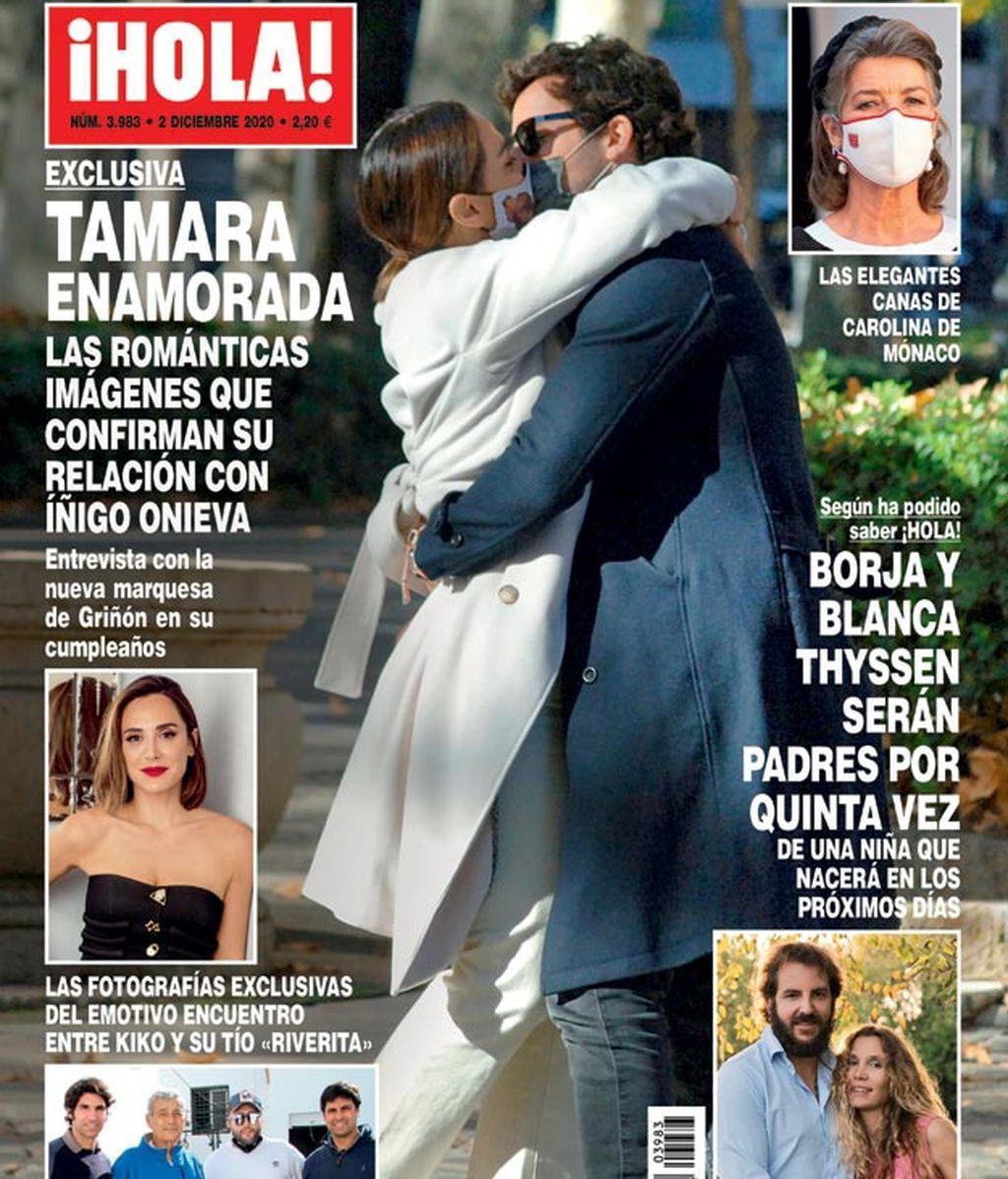 Tamara Falcó e Íñigo Onieva, besándose en plena calle con mascarilla