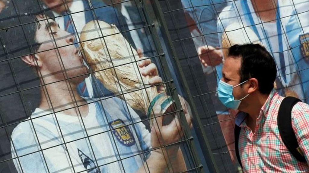 Grafiti de Diego Armando Maradona