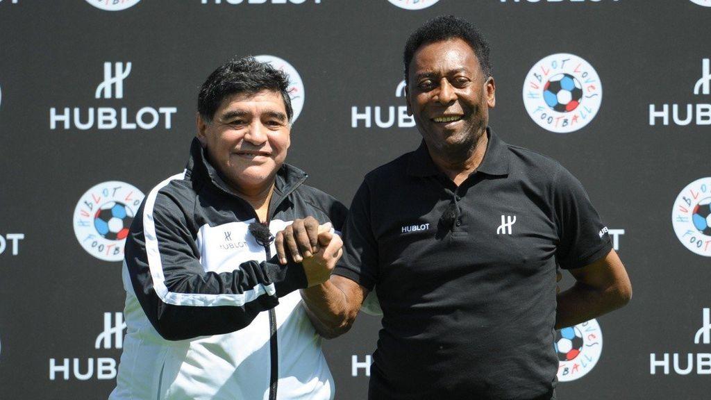 """El emotivo mensaje de Pelé para despedir a Maradona: """"Un día jugaremos juntos en el cielo, amigo"""""""
