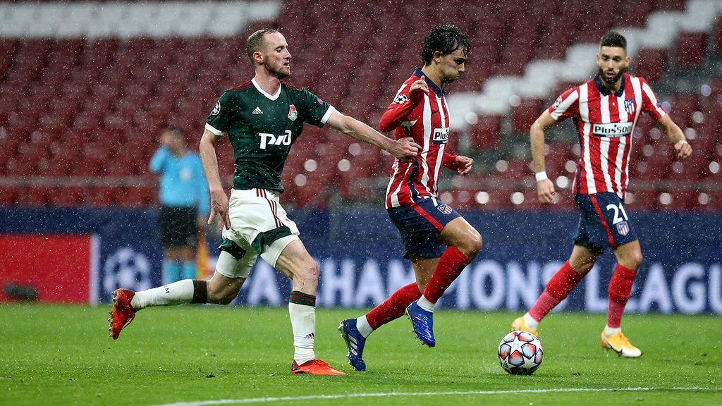 Al Atlético de Madrid se le moja la pólvora y no consigue pasar del empate al Lokomotiv (0-0)