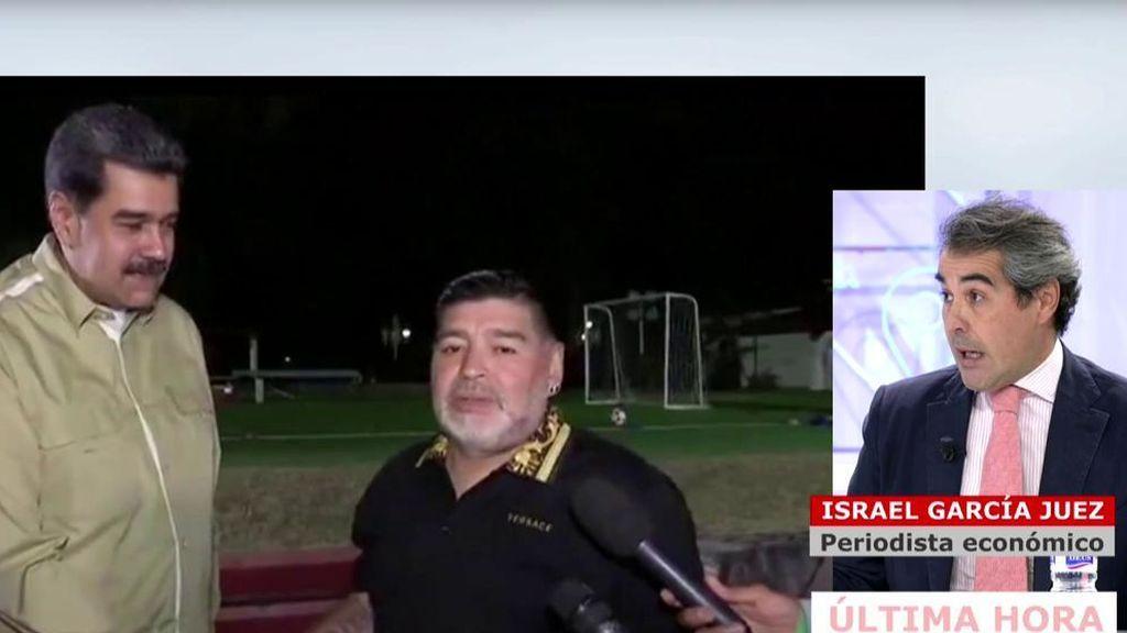 Reacción de García Juez a la muerte de Maradona