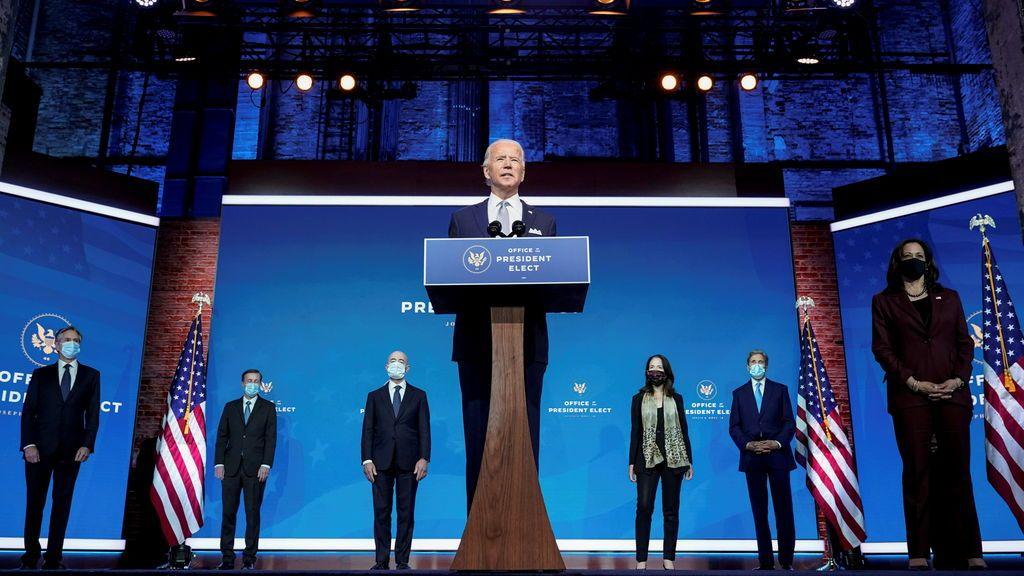 """Biden, en la presentación de su futuro Gobierno:  """"Estados Unidos ha vuelto"""""""