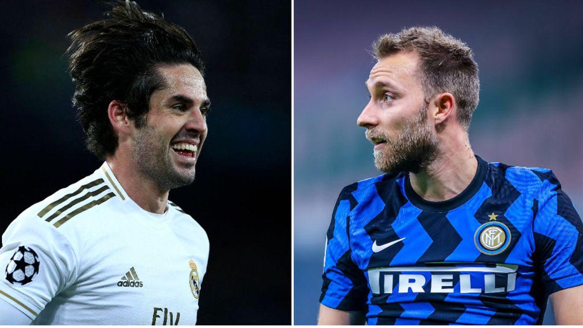 El Real Madrid reactiva el interés en Eriksen ante la posible salida de Isco