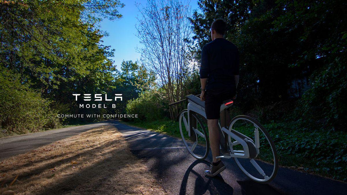 Tesla Model B: así es el diseño de la bici eléctrica de Elon Musk