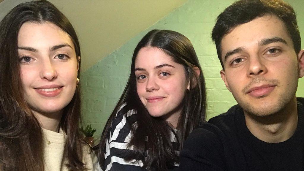 Marina, Lucía y Eduardo