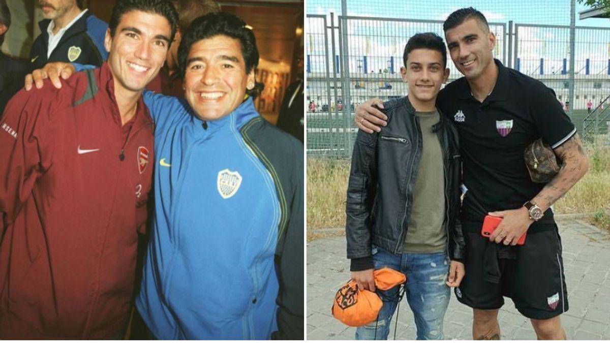 """El emotivo mensaje de recuerdo del hijo de José Antonio Reyes a Maradona: """"Las leyendas nunca mueren"""""""