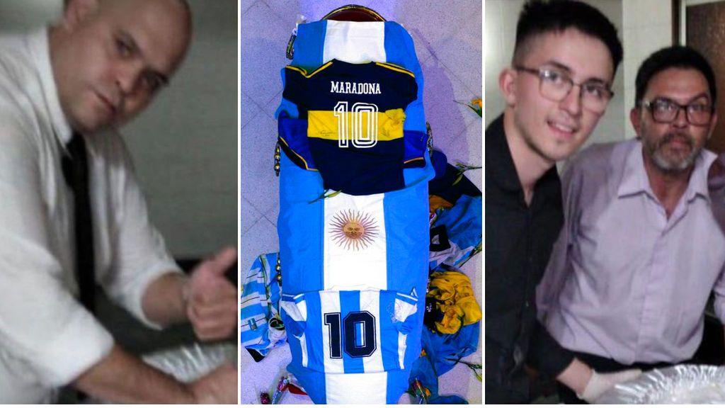 """Los barras bravas buscan a los empleados que se fotografiaron con el cadáver de Maradona: """"Los vamos a matar, y lo vamos a grabar"""""""