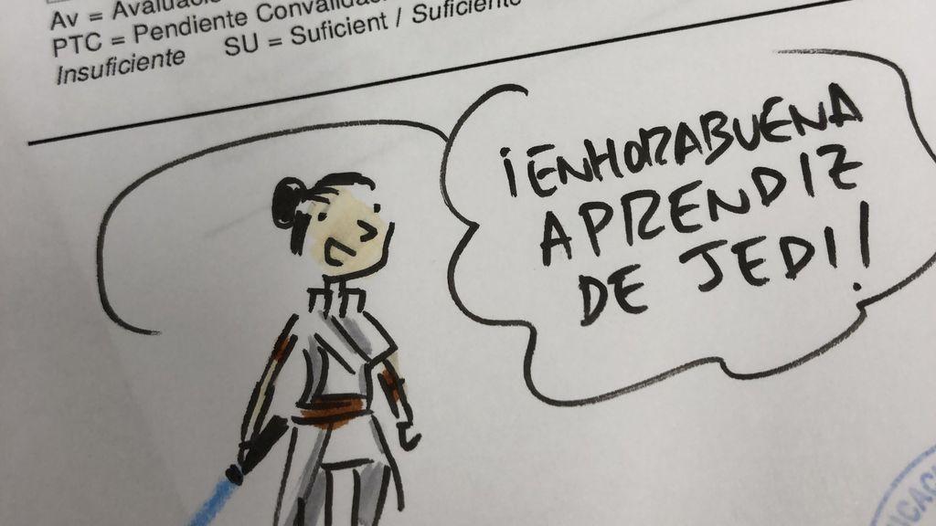 Un profesor seguidor de 'Star Wars' triunfa en Twitter por su peculiar forma de poner las notas
