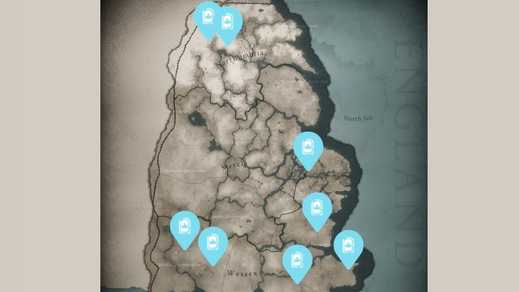 8 Tesoros de Bretaña Assassin's Creed: Valhalla