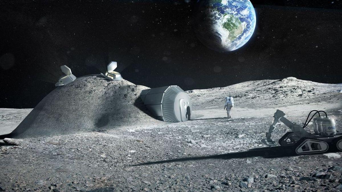 Ingenieros de la ESA desarrollan un método para sacar oxígeno y materiales de construcción del polvo lunar