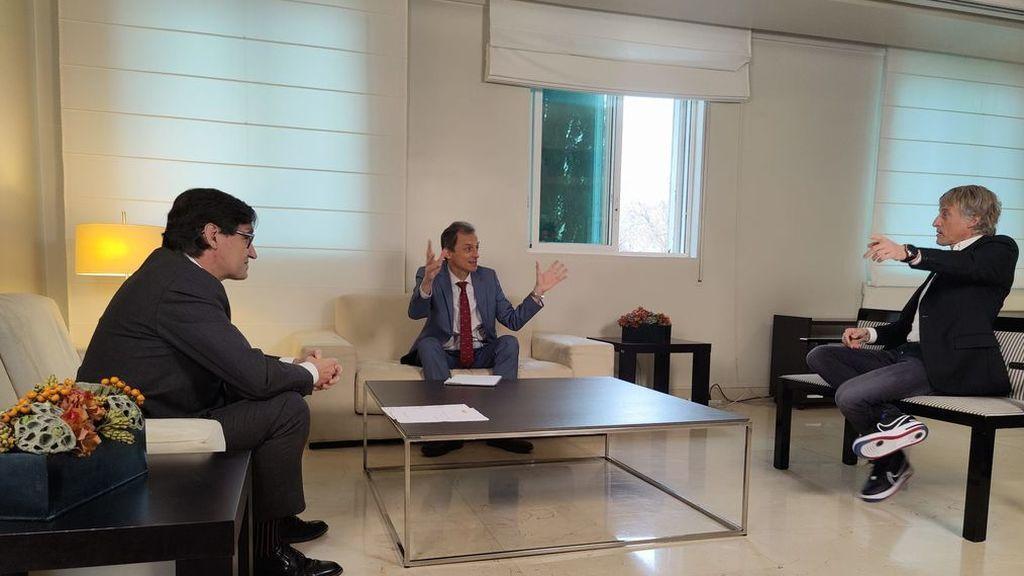 Los ministros Salvador Illa y Pedro Duque hablan sobre las vacunas contra la COVID-19 en el especial de 'Planeta Calleja' que Cuatro emite el lunes