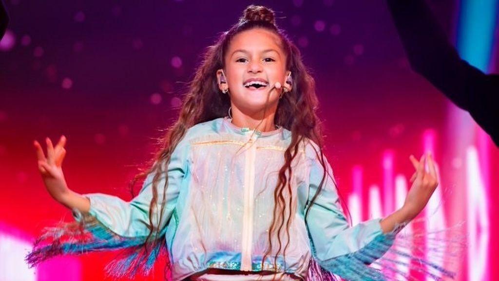 Soleá queda tercera en Eurovisión Junior, que gana Francia con la carismática Valentina