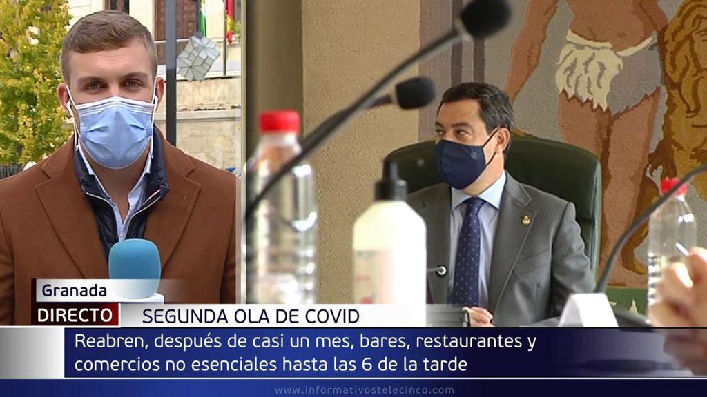 La Junta de Andalucía permite hostelería y comercio hasta las 18 horas en toda Granada