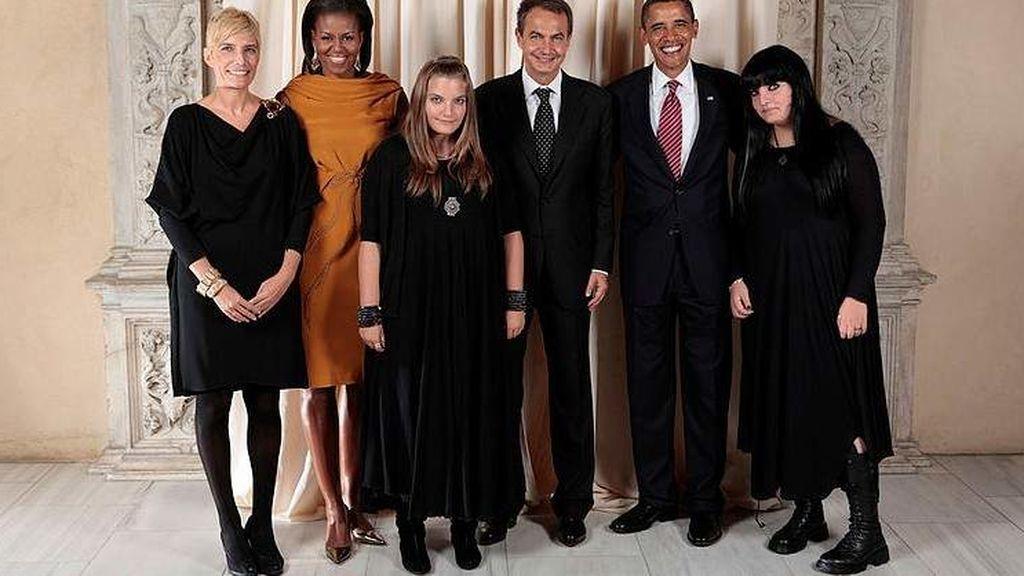 Tras su visita a Nueva York, la Casa Blanca colgó una fotografía con la familia Rodríguez-Espinosa en su web.