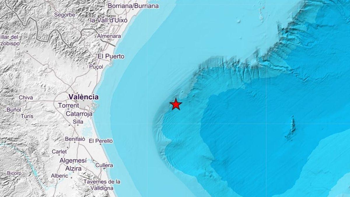 El Golfo de Valencia registra 22 pequeños terremotos, el mayor de 3,2 grados