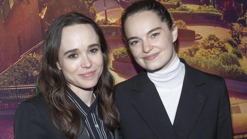 Ellen Page y Emma Portner, en un estreno en junio de 2017
