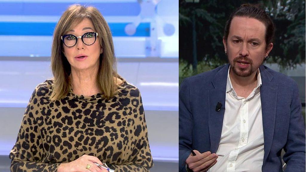 Ana Rosa contesta a Pablo Iglesias sobre las fortunas en Madrid