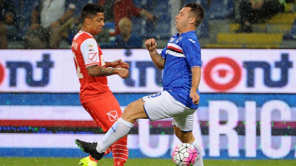 Cassano regresó en su etapa en la Sampdoria tras las vacaciones visiblemente fuera de forma