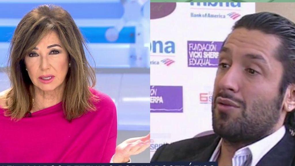 Ana Rosa reacciona a la detención de Rafael Amargo