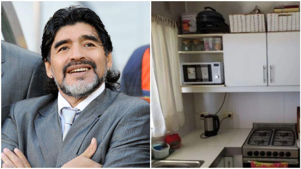 Las fotos del interior de la casa en la que murió Maradona.