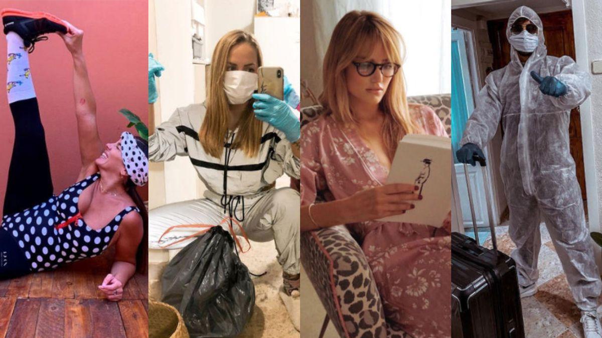 En chándal o lencería pasando por el EPI: así son los looks de cuarentena que los famosos han lucido en 2020