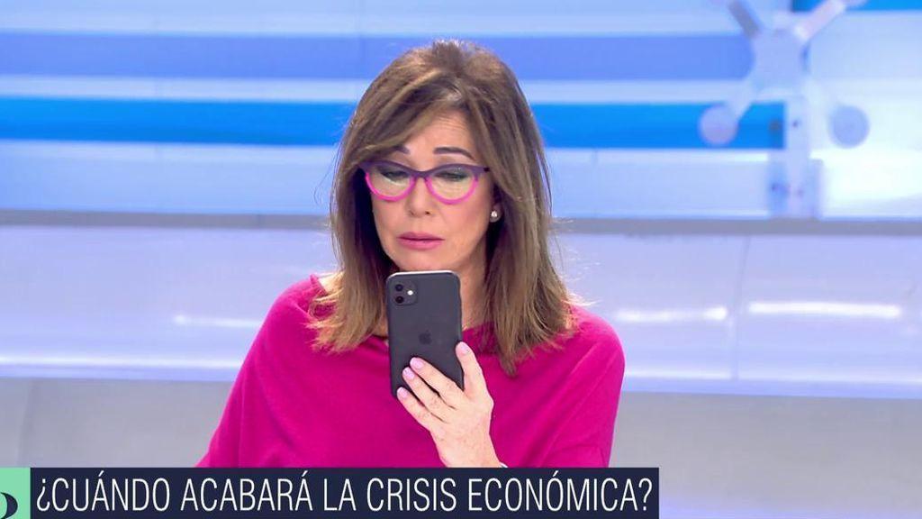 Ana Rosa no da crédito: España es la última de las economías desarrolladas