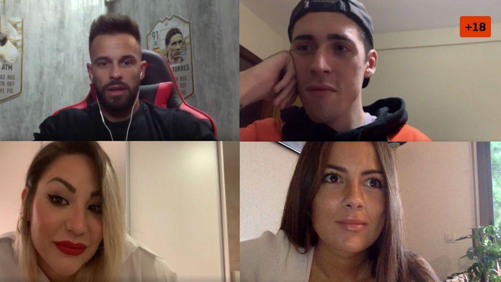 Yo nunca: Cristian ATM, Jorge Cyrus, Steisy y Melyssa responden sin tapujos y cargan contra Aurah Ruiz (1/2)