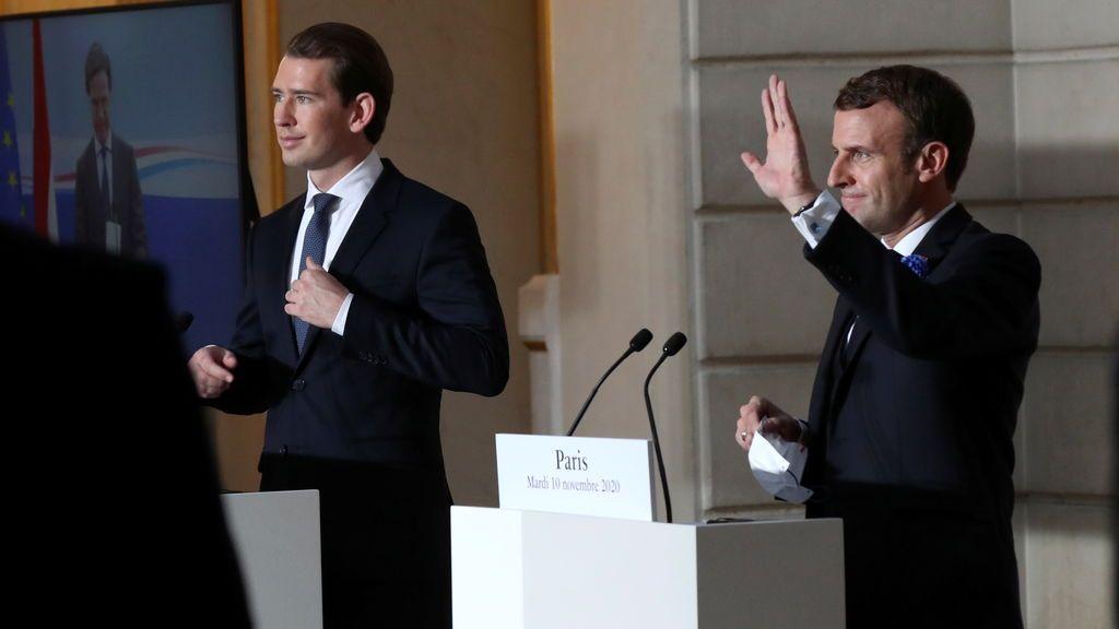"""La dupla Macron-Kurz y Merkel, dos formas de medirse al """"Islam político"""""""