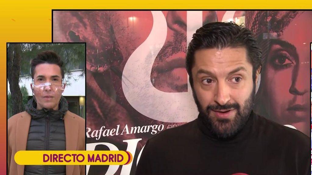 """Omar Suárez: """"Rafael Amargo no ha parado de llorar en las dos noches ha estado en el calabazo""""."""