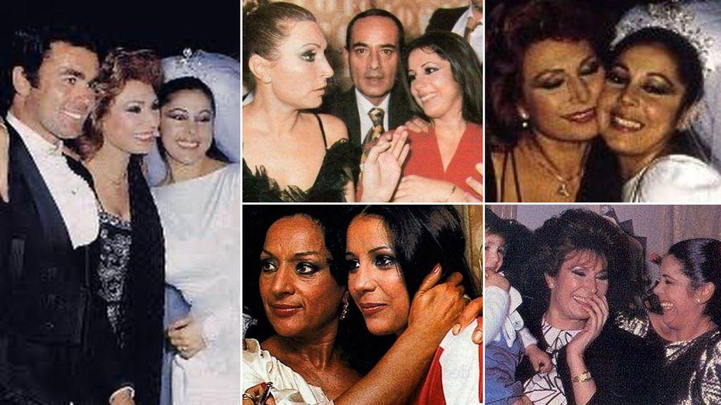 Las impactantes fotografías de Isabel Pantoja y Rocío Jurado juntas de jóvenes ¿Cuál era su relación?