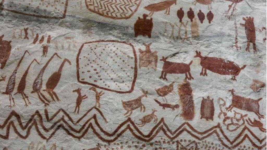 Aparecen pinturas rupestres de bestias de la Edad de Hielo en la Amazonia