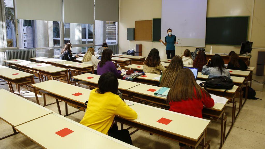 Estudiantes en la Universidad de Granada